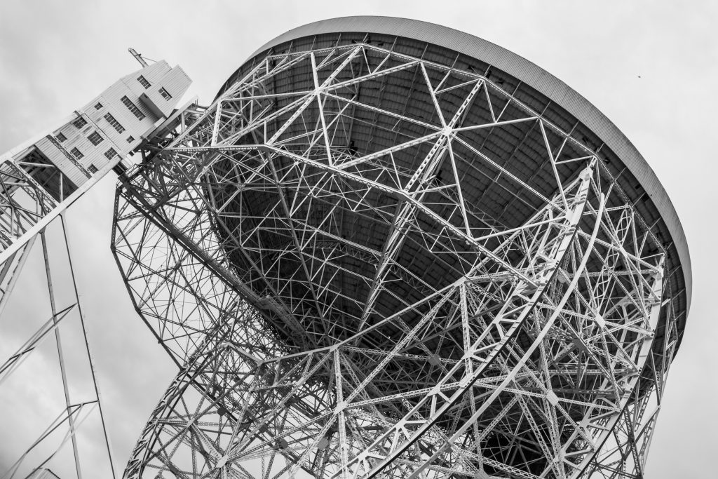 View of the Lovell Telescope at Jodrell Bank