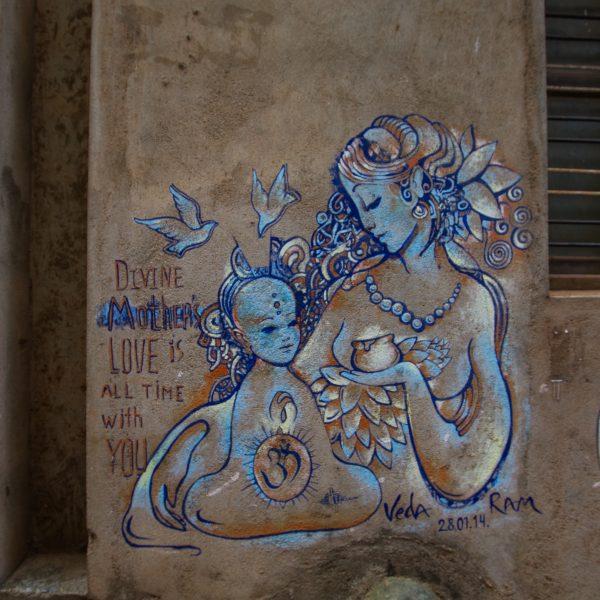 Divine Mother's Love Graffiti Street Art